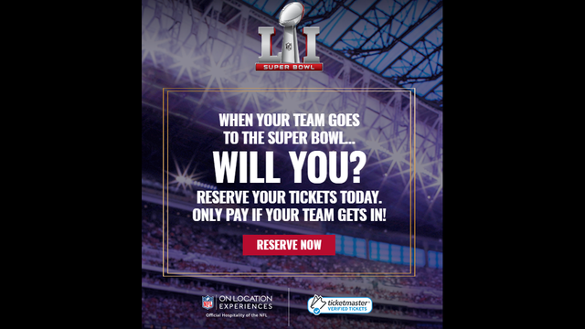 NFL selling Super Bowl tickets contingent on your team