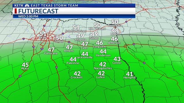 More rain, cold temperatures Wednesday