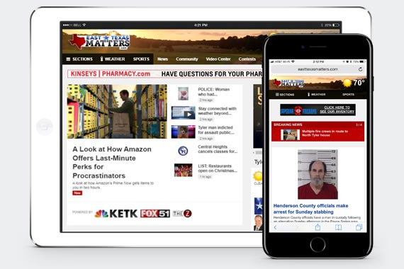 Visit EastTexasMatters.com on your mobile phone browser