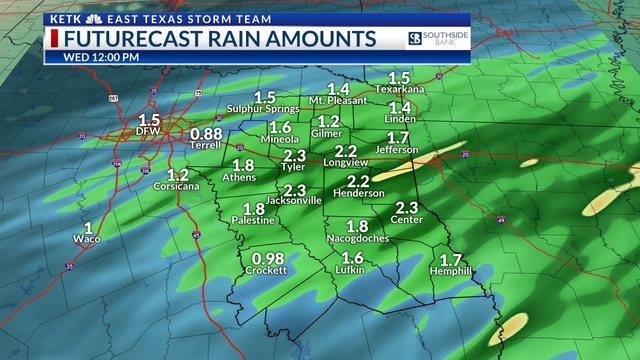 Rain & storms Tuesday, small hail threat