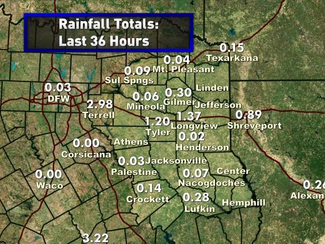 Rainfall 36 Hours