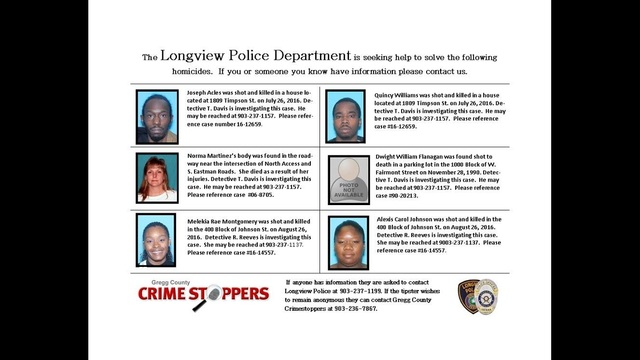Longview Police seek tips in cold cases