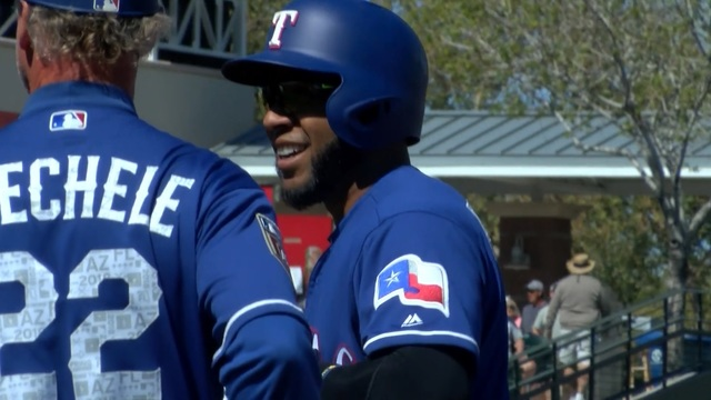 Rangers fans enjoy big rivalry on Opening Day