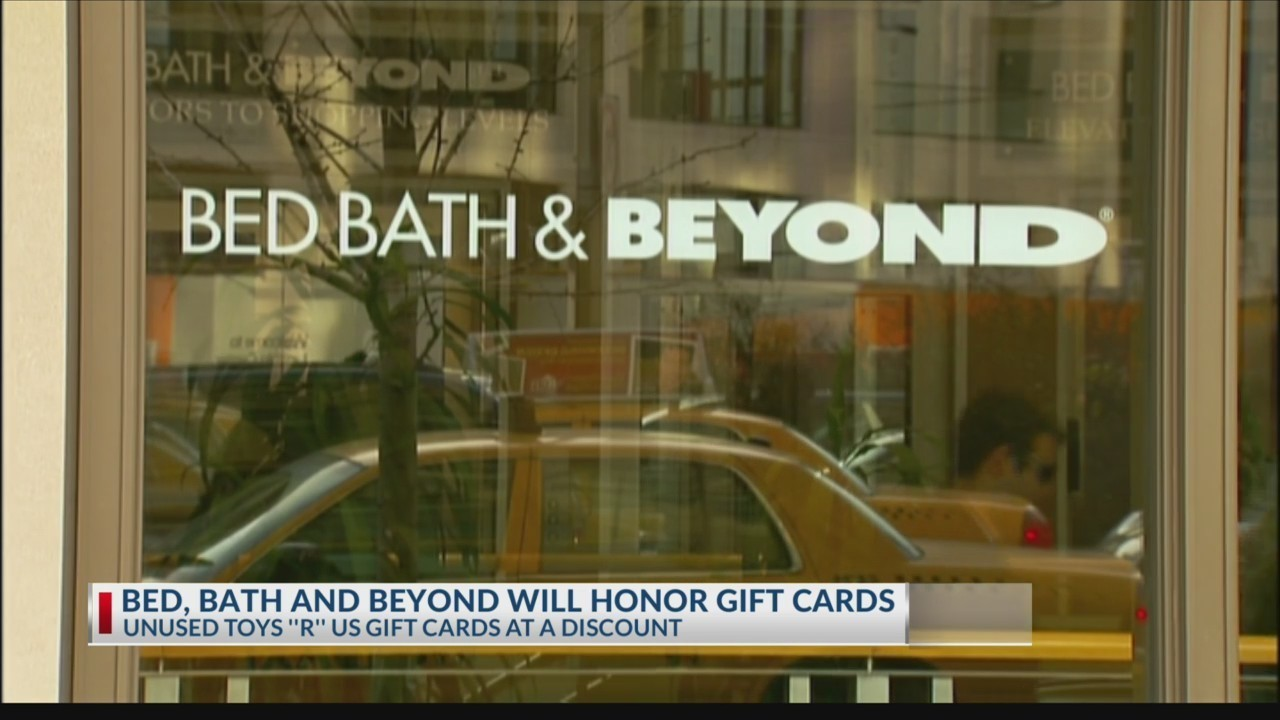 Bed Bath & Beyond buying Toys R Us gift cards, but not for long