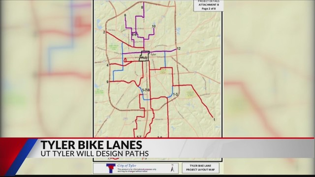 Tyler bike lanes in design phase with UT Tyler