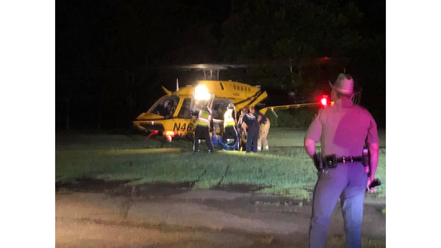 1 taken to hospital after rollover, pin-in accident