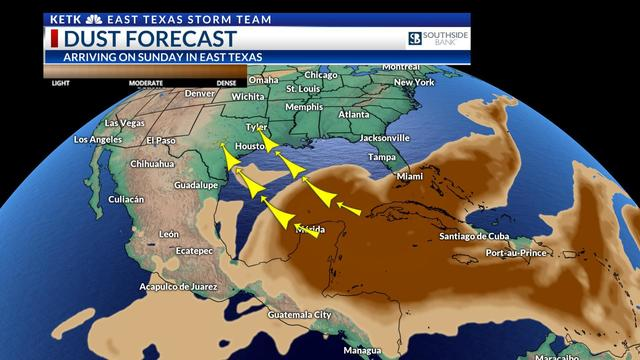 African dust expected to return to East Texas this weekend