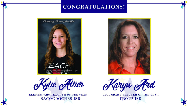 Nacogdoches, Troup educators named 'Teachers of the Year' by Region 7 ESC
